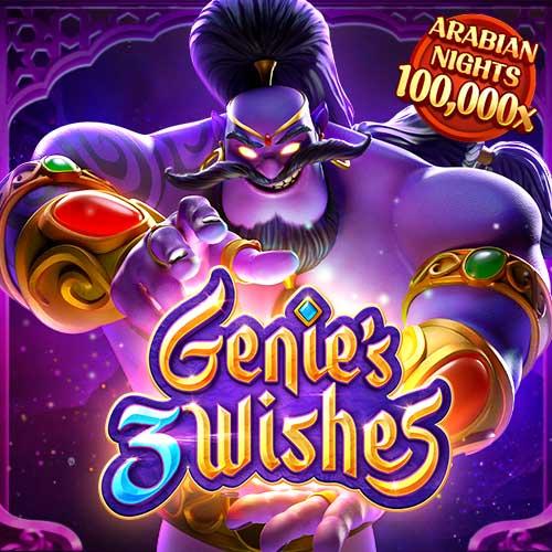 Banner Genie's 3 Wishes เกมสล็อตทุกค่าย ทดลองเล่นสล็อต PG SLOT
